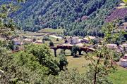 Der Kreisviadukt von Brusio. 2001