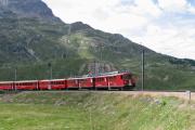 ABe 4/4 49 und 45 oberhalb Bernina Lagalb