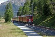 Bernina Express von Tirano mit ABe 4/4 43 kurz vor Surovas