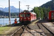 Gem 4/4 802 und ABe 4/4 47 beim Manövrieren in St. Moritz