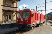 Gem 4/4 802 beim Manövrieren in St. Moritz