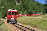 Bernina Express mit ABe 4/4 41 bei La Dota oberhalb Cavaglia