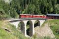 ABe 4/4 54 und 55 auf dem Val Pila-Viadukt