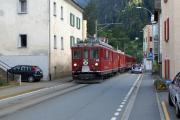 """ABe 4/4 44 und Gem 4/4 801 als """"Tram"""" in Le Prese"""