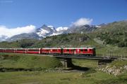 ABe 4/4 54 und 55 kurz vor Bernina Lagalb