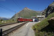 ABe 4/4 45 und 49 mit einem Bernina Express in Bernina Lagab