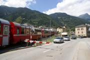 Bernina Express bei S. Antonio unterhlab Poschiavo