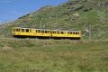 ABe 4/4 34 und 30 unterhalb der Galleria Arlas zwischen Bernina Lagalb und Ospizio Bernina