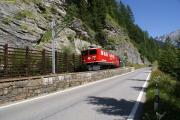 Ge 6/6 II 705 unterhalb Bergün