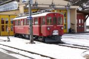 ABe 4/4 35 in Poschiavo. Triebfahrzeug seit Mai bei der Museumsbahn Blonay-Chamby.