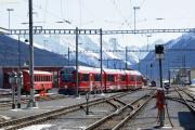 """""""Allegra"""" ABe 8/14 3502 in Davos Platz als Kurzpendel nach Filisur."""