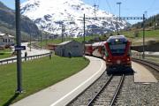 ABe 4/4 8/12 in Bernina Suot.