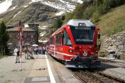 """""""Allegra"""" ABe 8/12 3503 in Alp Grüm."""