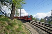 ABe 8/12 3503 in der Kehre bei Alp Grüm.