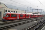 """Neuer """"Allegra"""" ABe 8/12 3506 vor ABe 8/12 3505 in Landquart"""
