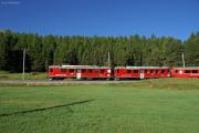 ABe 4/4 49 und 46 mit Zug 1617 nach Tirano kurz vor Pontresina
