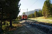ABe 4/4 48 zwischen Pontresina und Punt Muragl Staz
