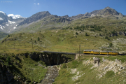ABe 4/4 34 und 30 oberhalb Bernina Lagalb