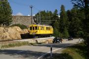 ABe 4/4 30 und 34 zwischen Bernina Suot und Morteratsch.