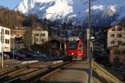 """ABe 8/12 """"Allegra"""" in Klosters Dorf"""