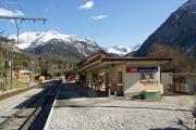 Bahnhof Bergün/Bravuogn während dem Umbau