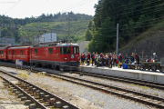Ge 4/4 II 614 in Reichenau-Tamins