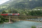 Ge 4/4 III 645 auf der Rheinbrücke bei Reichenau