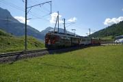 ABe 4/4 III 52 und 51 bei Bernina Suot