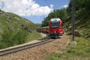 Allegra ABe 8/12 3511 zwischen Drachenloch und Alp Grüm