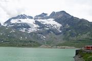 Lago Bianco mit Piz Caral, Piz Cambrena und Piz d'Arlas (vlnr)