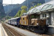 Ge 6/6 I 415 in Thusis mit dem Alpine Classic Pullman