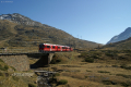Allegra ABe 8/12 3509 kurz vor Bernina-Lagalb. Links oben der Piz Lagalb