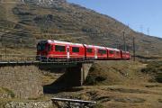 Allegra ABe 8/12 3509 kurz vor Bernina-Lagalb
