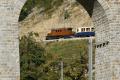 "Ge 4/4 182, ""Bernina-Krokodil"", oberhalb des Kreis-Viadukts von Brusio"