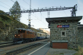 """Das """"Bernina-Krokodil"""" Ge 4/4 182 macht in Alp Grüm mit ihrem Sonderzug eine kurze Pause"""