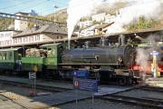 G 4/5 107 in St. Moritz mit einem Sonderzug nach Landquart