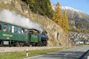 Dampfsonderzug mit der G 4/5 107 zwischen Celerina und Samedan
