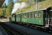 G 4/5 107 mit Dampfsonderzug in Filisur