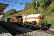 Ge 6/6 I 415 mit Löschzug in Filisur