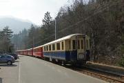 Regio nach Arosa mit Pullman am Zugsende in Chur, Sand