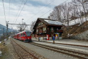ABe 8/12 3503 mit Regio nach Arosa in Peist