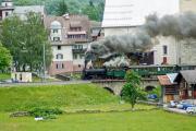 Dampffahrt Surselva mit der G4/5 107 in Trun