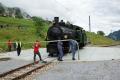 Dampffahrt Surselva. G4/5 107 auf der Drehscheibe von Sumvitg-Cumpadials