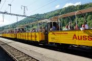 Jubiläumsfest Surselva.  Railrider in Ilanz/Glion
