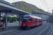 Ankunft des ABe 8/12 3509 aus Arosa in Chur