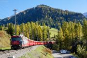 RE mit Ge 4/4 III 646 auf dem Val Tuorts-Viadukt in Bergün