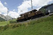 Ge 6/6 I 415 mit Extrazug vor Bergün