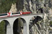Ge 4/4 I 605 vor Glacier-Express! Landwasserviadukt