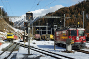 Ge 4/4 II 614 und Ge 4/4 III 644 in St. Moritz