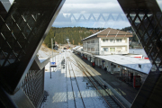 100 Jahre Chur - Arosa! Neuer Bahnhof Arosa mit Passarelle